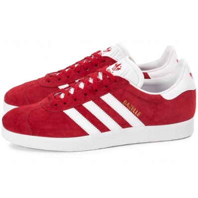 adidas gazelle gris et rouge