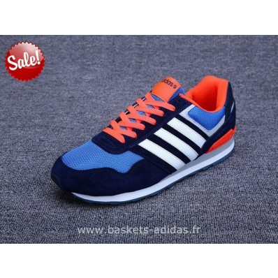 adidas neo bleu orange