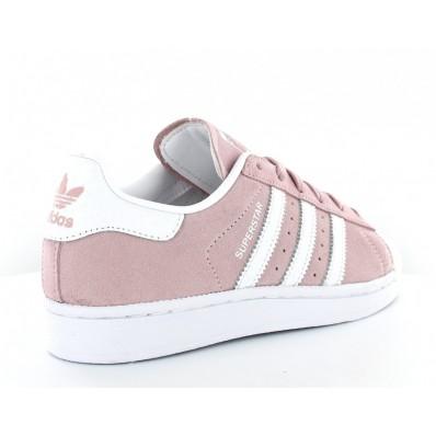 adidas superstar femme rose blanc