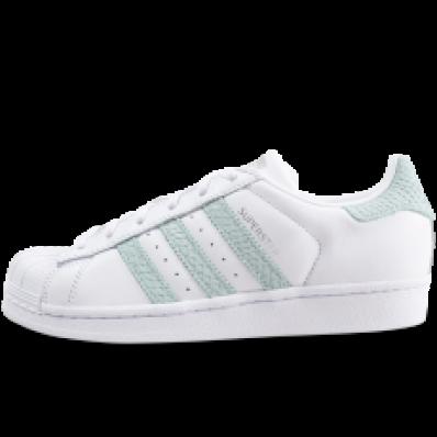 adidas superstar vert d'eau et blanc