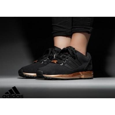 adidas zx flux femmes noir et or