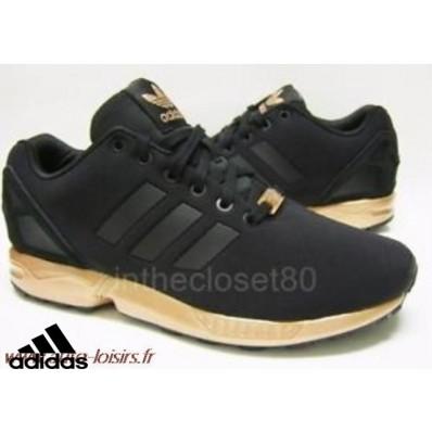 adidas zx flux noir et or femme