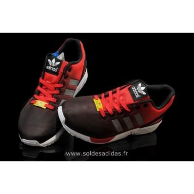 adidas zx flux rouge et noir pas cher