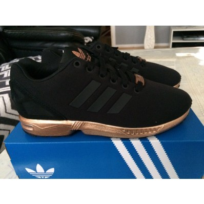 basket adidas femme zx flux bronze