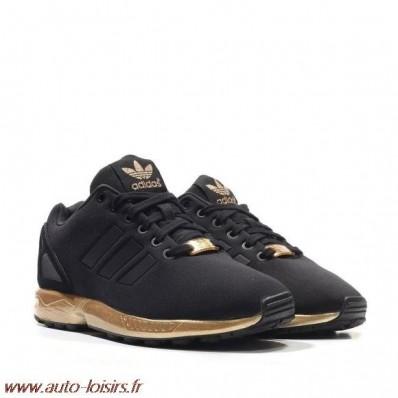basket adidas zx flux femme noir et bronze