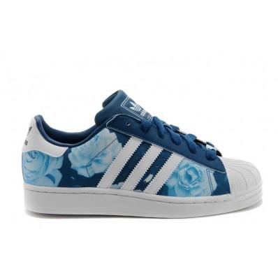 chaussure adidas superstar femme fleur