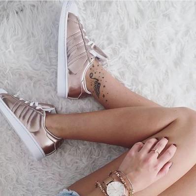superstar femme adidas gold