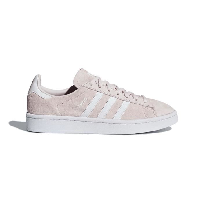 Adidas campus velours femme rose pale femme | Fanny chaussures