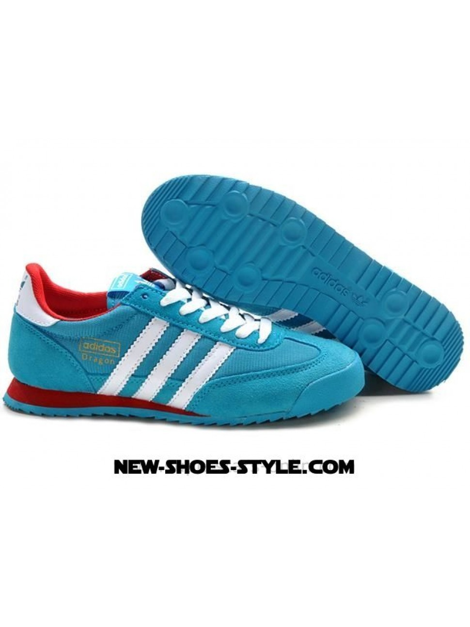 adidas sneakers dragon bleu