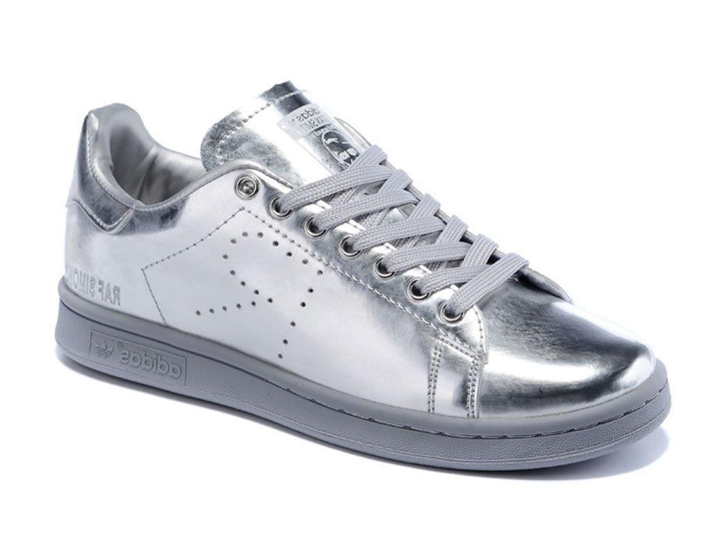 Adidas stan smith metal femme argent femme | Fanny chaussures