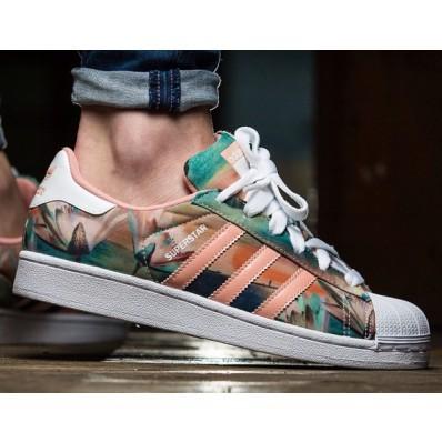 adidas femme chaussures fleurs