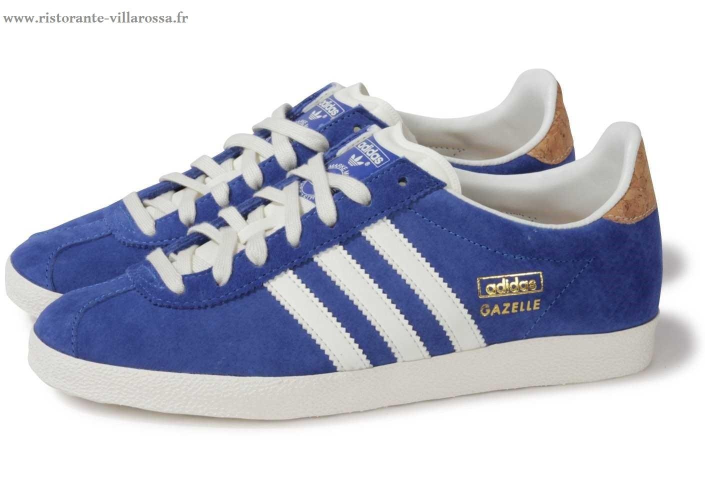 basket adidas bleu gazelle femme