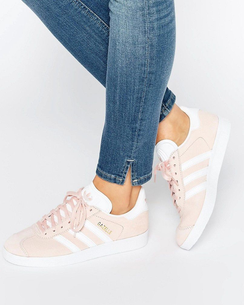 chaussure adidas gazelle femme rose pale