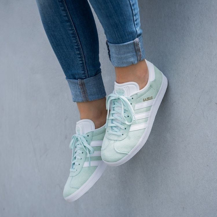 adidas gazelle femme vert d'eau