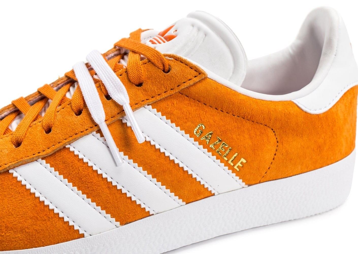 adidas gazelle noir orange