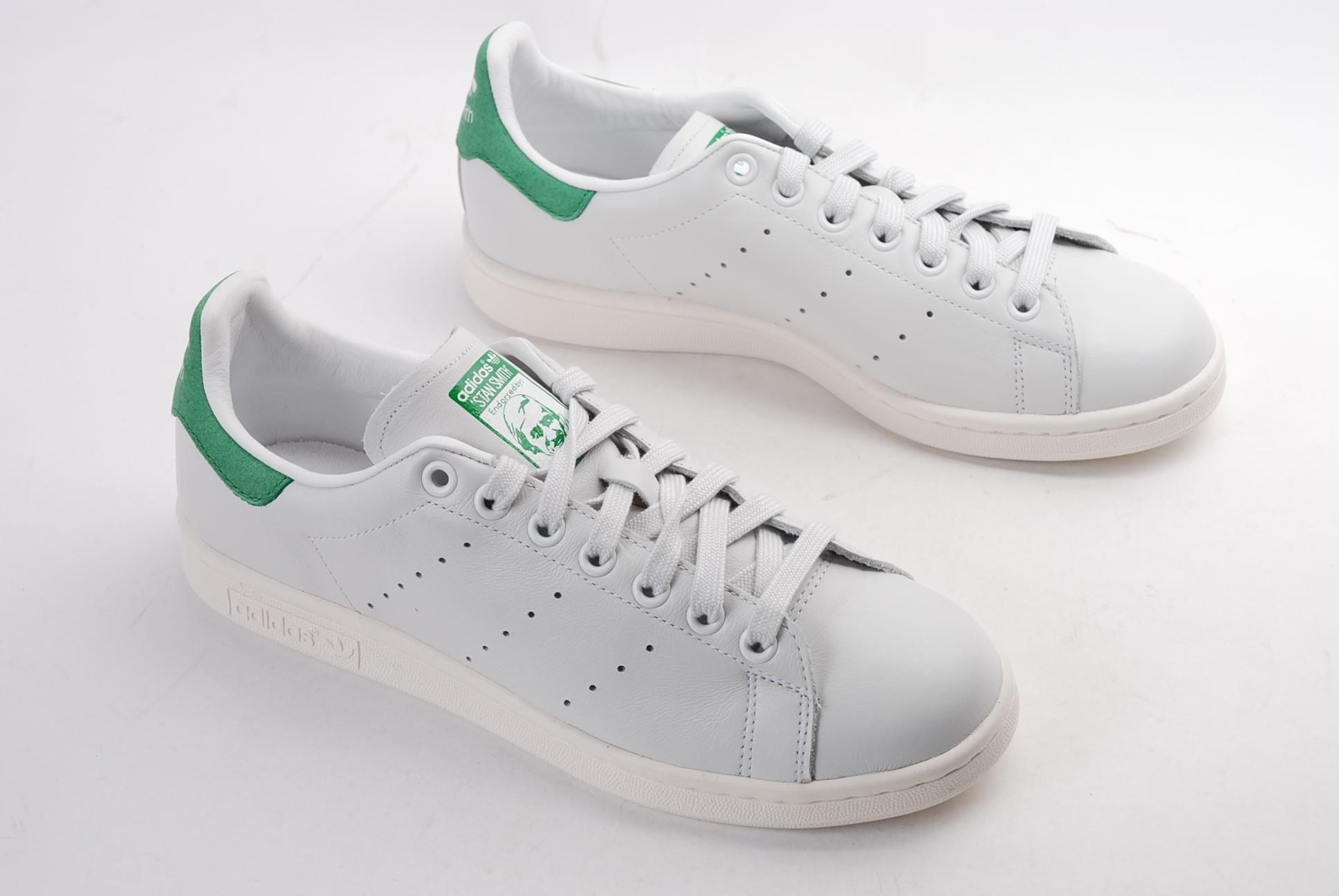 Adidas Stan Smith Femme Stan Smith Cf W Ftwbla Ftwbla Vert