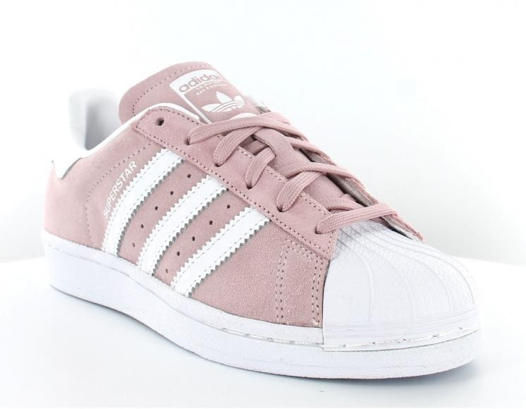adidas blanche superstar rose