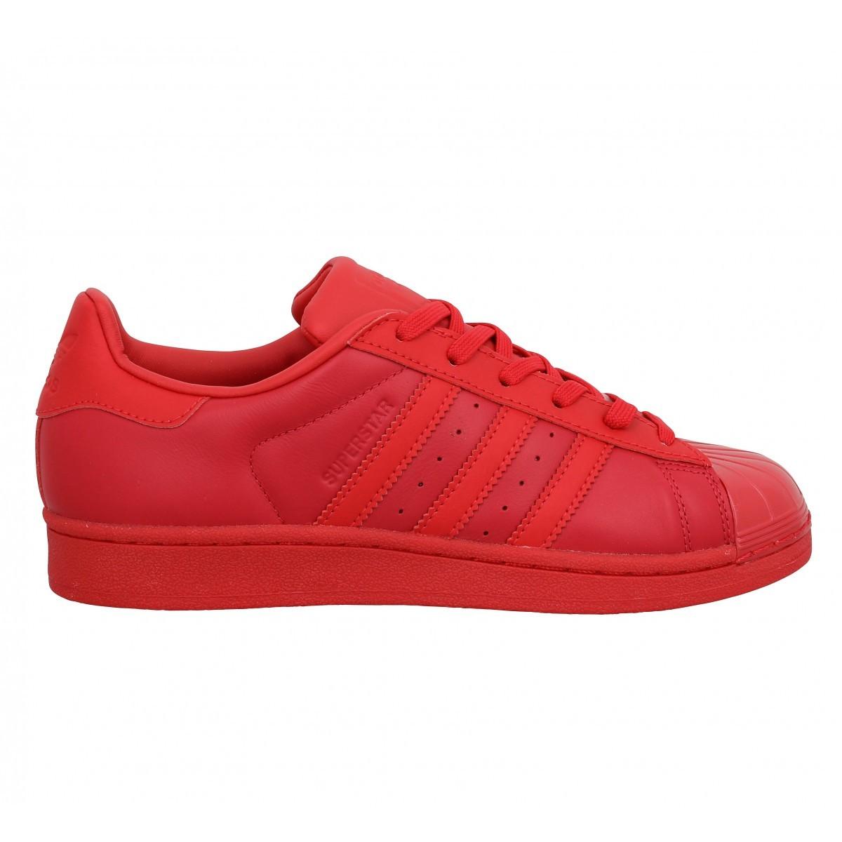 adidas superstar velour rouge