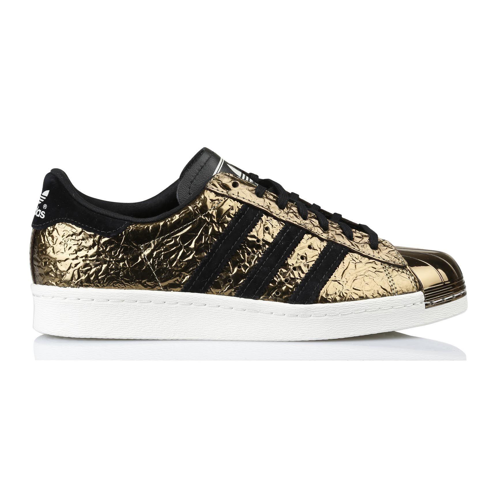 adidas superstar femme or et noir