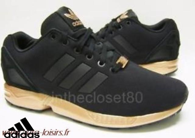 adidas zx flux noir et dore