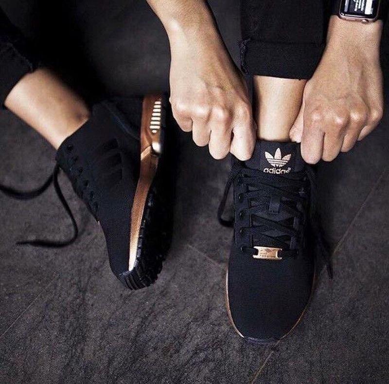 adidas zx flux or et noir femme