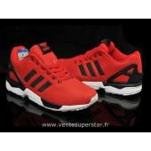 adidas zx flux rouge et noir