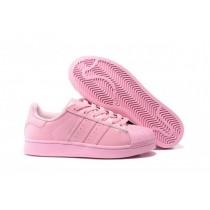 adidas originals superstar blanc / rose femme
