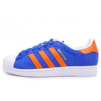 adidas superstar bleu orange