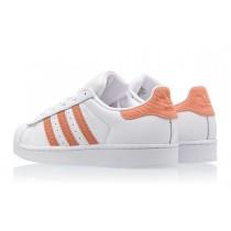 adidas superstar orange femme