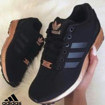 basket adidas zx flux femme noir et or