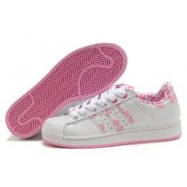 superstar femme adidas blanche et rose