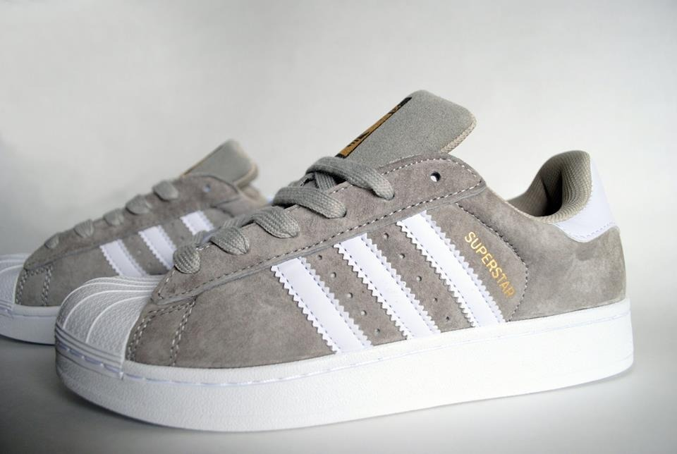 adidas superstar gris brillant